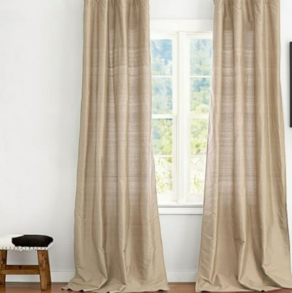 "Pottery Barn Other - NWT Silk Pottery Barn Drapes 104"" x 108"""